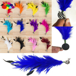 New Woman Girls Chicken Feather Flower Hairpins Bridal Banquet Head Hair Clips