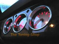 For Classic Mini Cooper Chrome Dash Rings Surrounds Polished Alloy Set of 3 87mm