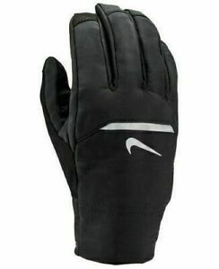 Nike Women's AeroShield Running Gloves Black/Silver Large NEW WITH TAGS