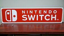 Nintendo Switch Logo Aluminum Sign  6