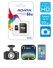ADATA Micro SD 64GB SDHC Memory Card Mobile Phone Class 10 With SD ADAPTER