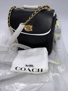 Coach 4690 Madison Convertible Backpack 18 Black Leather NWT