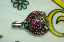 NWOT Brighton ladybug pink crystal lovebug charm pendant for necklace
