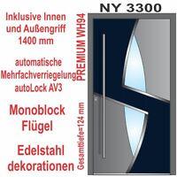 Haustür WeltHaus  WH94 Premiumtür Aluminium mit Kunststoff Tür Modern NY3300 Tür