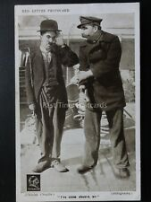 Charlie Chaplin CHARLIE I'VE COME ABOARD SIR Red Letter Photocard c1915