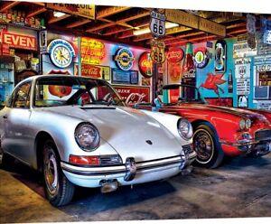 Jigsaw Puzzle Vehicle Hot Rod Alley Porsche Chevrolet Corvette 750 pieces NEW