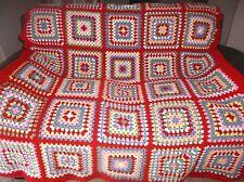 crochet granny blanket/throw # cath kidston inspired granny 5 -array of colours