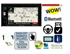 FOR SCION & TOYOTA Bluetooth Stereo GPS NAV Touchscreen Double Din Dash Kit