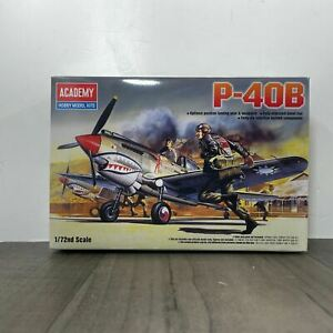 Academy P-40B Curtis Tomahawk 1:72 Scale Model Kit Brand New Sealed 12456