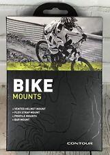 Contour Bike Mounts Kit Vented Helmet / Bar / Flex Strap /Profile Mount 6220 NIB