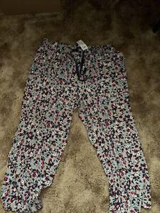 Cacique Sleep Lane Bryant Pajama PJ Lounge Pants Bottom Flowers 22/24 NWT Cotton
