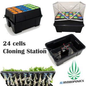 NEW AUTOMATIC CLONE STATION 24 CELLS CLONING SYSTEM PLANT SPRAY CLONE MACHINE