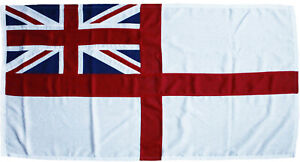White ensign traditionally sewn MoD approved woven flag fabric flag royal navy