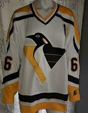 Mario Lemieux Pittsburgh Penguins 66 Vintage Starter NHL Adult Jersey Size L