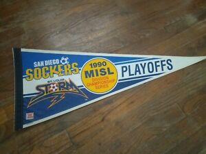 Vintage 1990 San Diego Sockers St.Louis Storm Playoff Pennant Wincraft