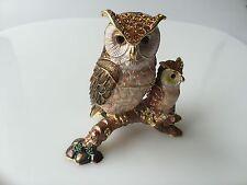 SWAROVSKI CRYSTAL 2 OWL JEWELRY BOX