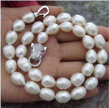 kultiviert 11-12mm weiß Süßwasser Perlenkette 18inch