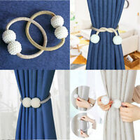 1Pair Pearl Magnetic Ball Curtain Tiebacks Tie Backs Buckle Clips Holdbacks Home