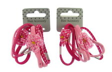 12 x  pink elastics with flower motive and ginham pattern both packs supplied