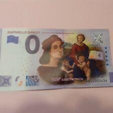 ZERO EURO BANKNOTE COLOR RAFFAELLO little Mintage ,billet Touristique Coloris