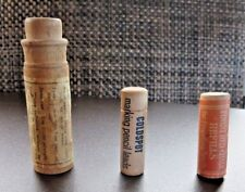 Wooden Containers: Red Chalk, Pencil Leads, Nasal Spray, (3) Vintage Advertising