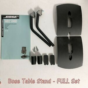 2 Bose UTS-20 Speaker Table Stands For Double Cubes, Jewel, Gemstone Speakers