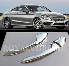 US STOCK X2 CHROME Door Handle Trims for Mercedes C E Coupe W205 C205 A238 W213
