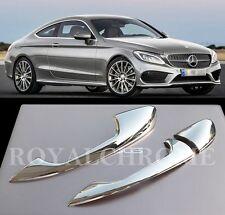 US STOCK ROYAL CHROME Door Handle Trims Mercedes C205 C Coupe C43 C63 W205 AMG