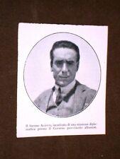 Barone Aliotti nel 1920 Missione diplomatica presso il Governo d'Albania