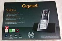 """Gigaset Mobilteil SL400H silber schwarz mit Ladeschale 1,8"""" Bluetooth Neu OVP"""