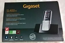 """Gigaset Mobilteil SL 400H silber schwarz mit Ladeschale 1,8"""" Bluetooth Neu OVP"""