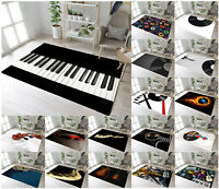 Vintage Record Musical Instruments Area Rugs Piano Floor Mat Living Room Bedroom