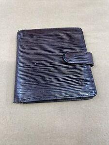 LV2224 Louis Vuitton Brown Epi Leather Compact Snap Bifold Wallet