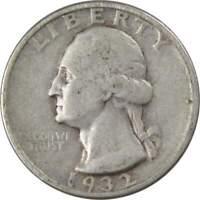 1932 Washington Quarter VG Very Good 90% Silver 25c US Coin Collectible