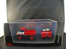 Schuco 03158 Pompiers Mercedes-Benz Unimog 406 EKU mit TSA8 neuf boite 1/43 MIB