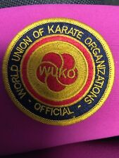 Vintage Patch Lot 1 patch Kuko World Union Of Karate Organizations Official