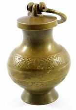 Vintage Beautiful Old Hand Carved Brass Holy Water Pot Old. G66-118