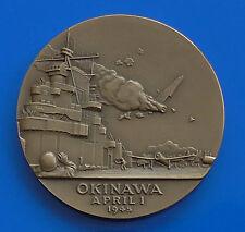 Bronze Medal Ernie Pyle Okinawa Japan Asia Pacific Japanese WW2 1970 USA 46g