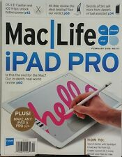 Mac Life Feb 2016 iPad Pro Is This The End For The Mac Siri FREE SHIPPING sb