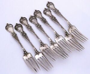 Alvin Majestic Sterling Silver Forks Chrysanthemums