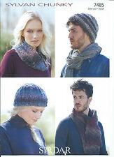Family Hats, Scarf & Snood In Sirdar Sylvan Chunky Yarn, Knitting Pattern 7485