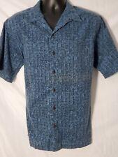 Ll Bean Short Sleeve Button Up Shirt Traditional Fit Camp tiki Print Aztec M