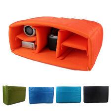 Waterproof DSLR Camera Bag Insert Padded Organizer Lens Case Partition Divider
