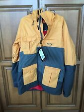 Mens Oakley Cottage Snowboard Jacket Winter sports coat New Large Yellow L