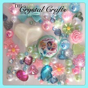 Green Disney Princess Theme Cabochon Gem & pearl flatbacks for decoden craft #2