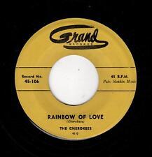 RARE DOOWOP-CHEROKEES-GRAND 106-RAINBOW OF LOVE/I HAD A THRILL