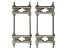 2x Doppelschelle Sat Mast Schelle Zahnschelle bis 60 mm verzinkt