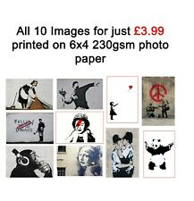 Banksy Graffiti Art 6x4 Pack of 10 Photo Poster Print ONLY Wall Art