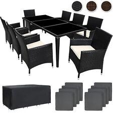 Mesa De Aluminio De 8 asientos sillas de ratán Conjunto de muebles de jardín al aire libre de mimbre Nueva