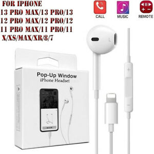 Headphones for iPhone 7, 8, X, XR XS Max 11 Pro Headset Earphone with mic Popup.